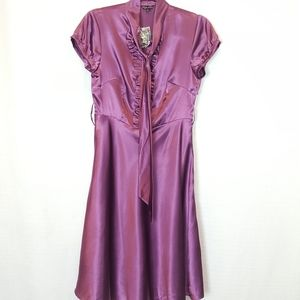 Traffic People | Pinup Dark Purple Satin Dress